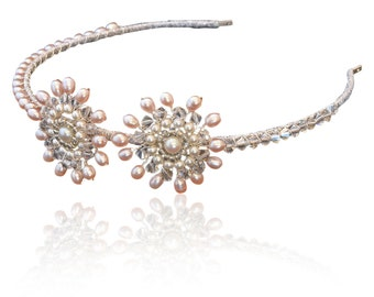 Lily Pink Pearl Tiara