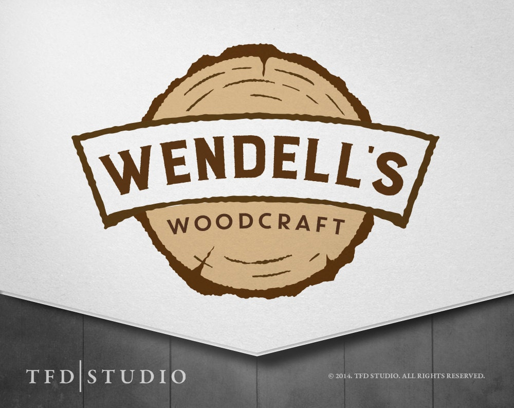 Professionally Designed Woodcraft Woodworking Logo By