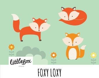 Fox Vector Clipart, instant download