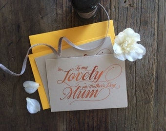 Mother's Day Card printed in copper foil (089)