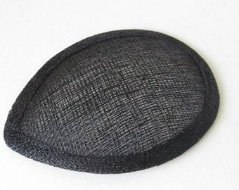 Black Teardrop Hat Base / Hat Base / Sinamay hat base / Fascinator Base / DIY Fascinator