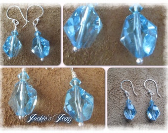 Fine silver Swarovski earrings.