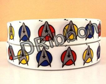 "7/8"" Space Grosgrain Ribbon"