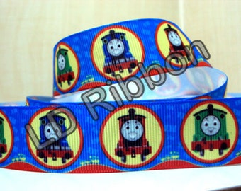"1"" Train Grosgrain Ribbon"