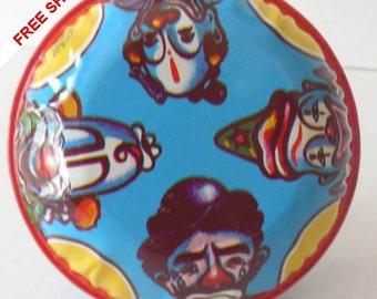 Vintage 1950s Tin Noisemaker Clown