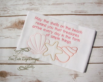 May The Shells On the Beach....Embroidery Design