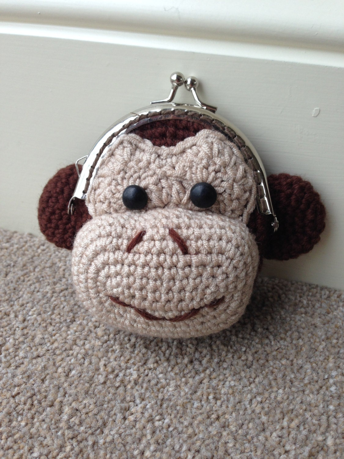 Monkey Coin Purse Crochet Pattern by LauLovesCrochet on Etsy