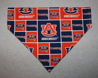 Auburn Tigers Dog Bandanna in Small, Medium, or Large