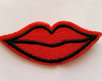 Red Lips Juicy Mouth applique iron on patch