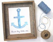 Nautical Nursery Print, Dream Big Little One, Anchor Print, Nautical Nursery Decor, Digital Download