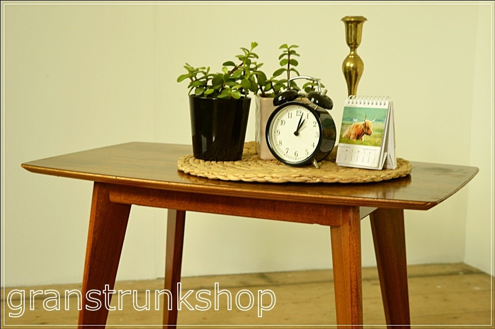 Small mid century vintage morris of glasgow coffee table - Petite table haute ...