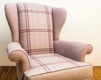 Heather Wing Chair - Handmade in England