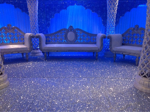 Non Slip Glitter Pu Leather Fabric Stage Carpet Wallpaper Or