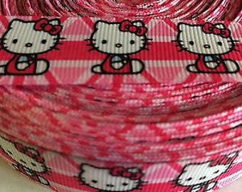 "Hello Kitty 7/8"" Grosgrain Ribbon - 5 Yards, Pink"