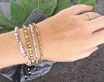 SALE 20% OFF Delicate brass bracelet, beaded brass bracelet, brass beaded bracelet, boho bracelet, brass bracelet, bohemian bracelet,
