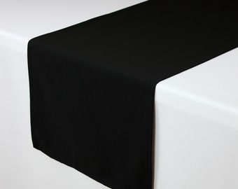 Black Table Runner 14 X 108 Inches | Black Table Runners For Weddings,  Hotels And