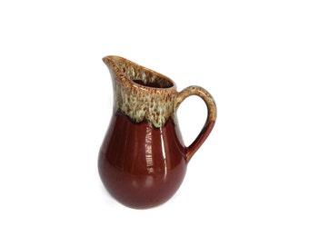 Vintage dripware pitcher ceramic drip glaze creamer