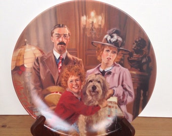 Annie, Lily and Rooster vintage collectors plate Knowles limited edition