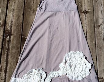 Girls Maxi Dress, Maxi Dress, Gray Dress, Floral Dress, Girls Dress