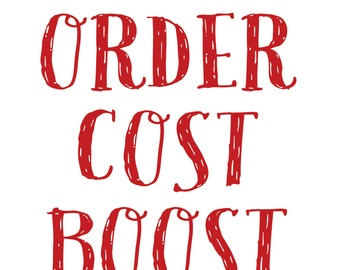Signs in Distress - Special Order Cost Boost
