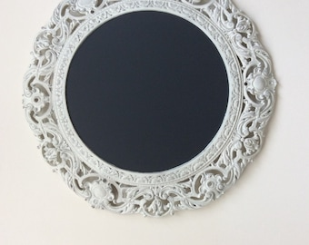 French Shabby Chic, Magnetic Chalkboard, Wedding Chalkboard, Cottage White Blackboard