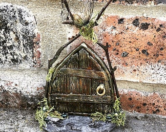 Magical faerie door with faerie wings