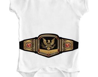 WRESTLING BELT - Champion / Baby Romper / Creeper / Bodysuit / One piece / Boxing