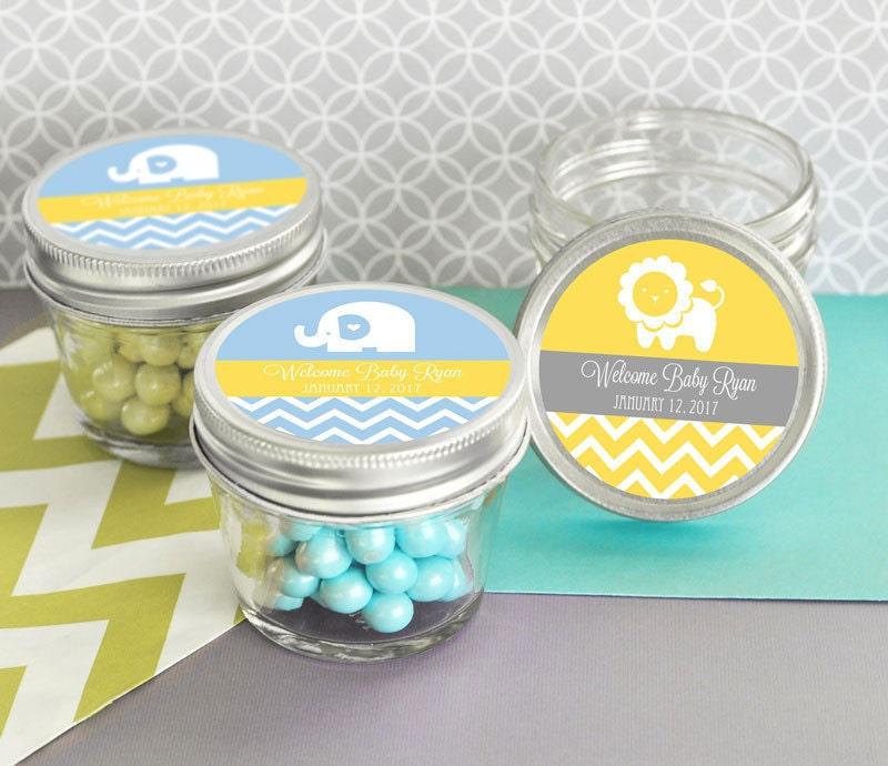 SET Baby Shower Favor Mini Mason Jar Favors 4 Oz Mini Mason