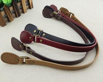1 Pair / 2pcs, 19.7 inch Genuine Leather Handles, Shoulder Tote Bag Purse Leather Handle