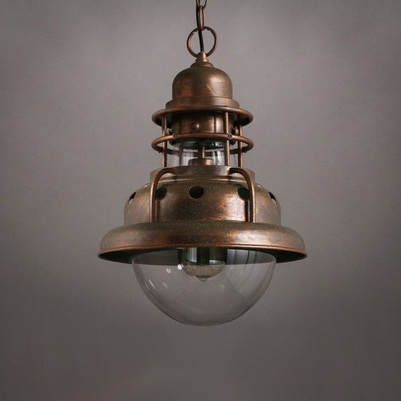vintage style mine verre pendentif lampe huile style. Black Bedroom Furniture Sets. Home Design Ideas
