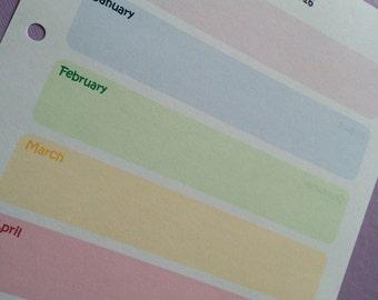 Pastel Rainbow Goals Planner (A5) PDF file