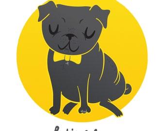 Custom Pet Portrait. Illustration