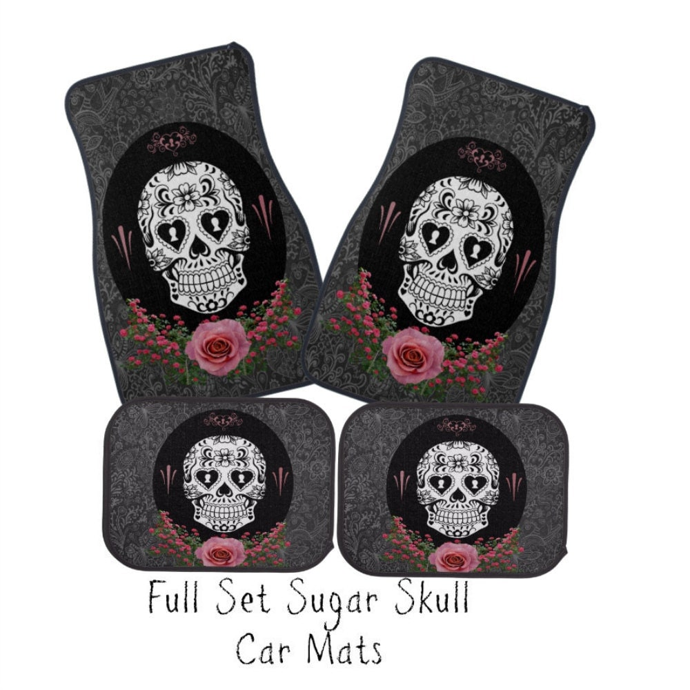 Sugar Skull Seat Covers For Cars