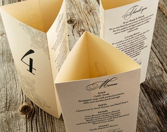 Tri-fold Menu - Custom made