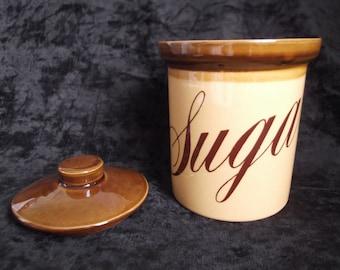 Vintage TG GREEN Granville Sugar Cannister.Stoneware kitchen storage cannister,. Vintage Sugar Cannister. Made in England