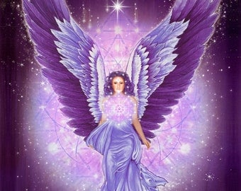 Violet Amethyst Angel, Star Grace - Pleiadian Angel, Angels of Light, Elohim of the Violet Ray, Guardian Angel, Sacred Geometry