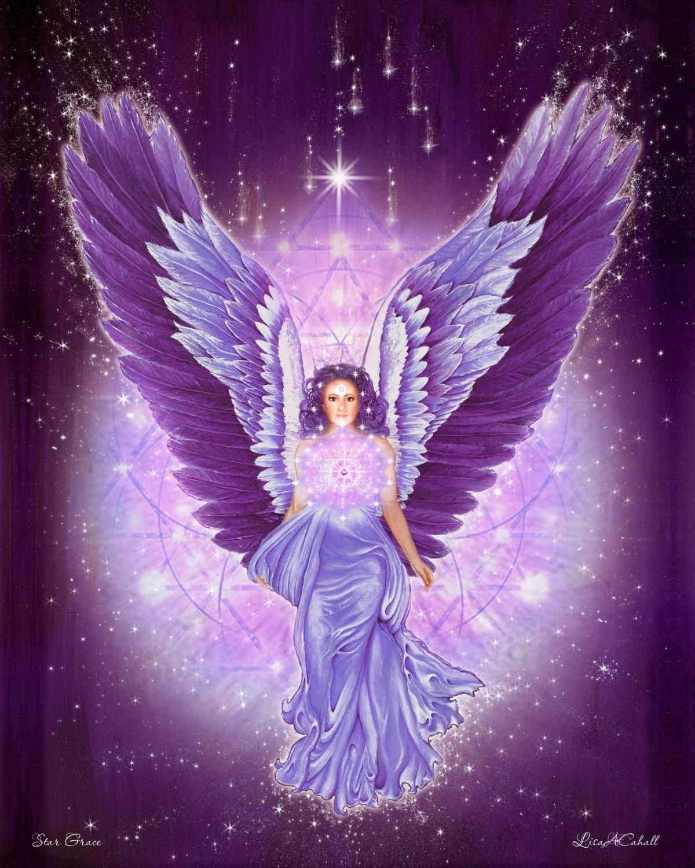 Violet Amethyst Angel Star Grace Pleiadian Angel Angels of