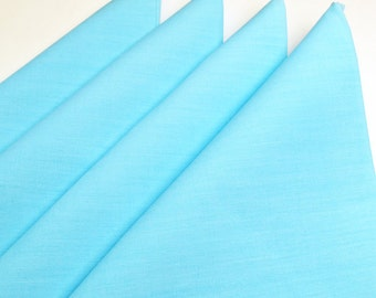 Napkins Sky Blue Cotton Set of 4