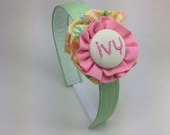 Vintage Fabric Headbands- EMBROIDERY AVAILABLE