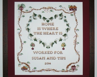Home Sweet Home or New Home Cross Stitch Sampler Kit