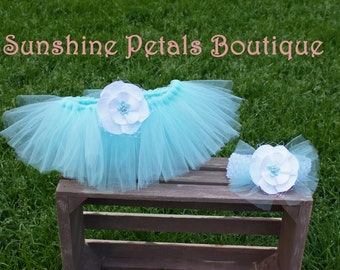 Tutu and headband made to order custom colors your pick first birthday 1st party cake smash outfit baby girl
