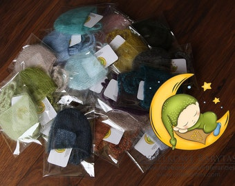 RTS - simple hats - available in 60colors - newborn photo prop - silk mohair