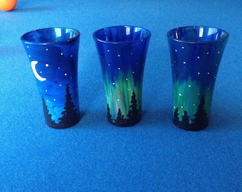 Hand painted shot glasses
