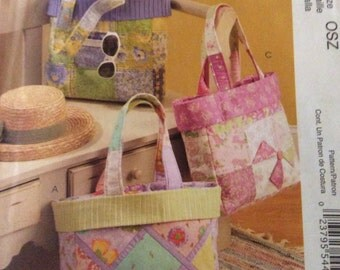 Tote Bag - Beach Bag - McCall's Fashion Accessories Sewing Pattern 5866