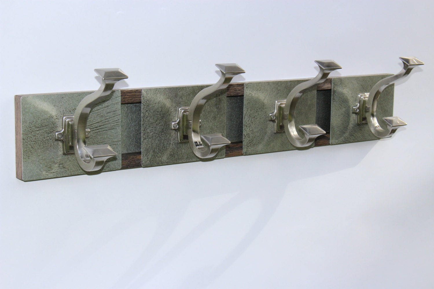 Metal And Oak Wall Coat Hooks Wall Mount Coat Rack By