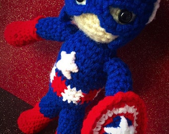 Crochet Captain America Doll