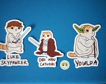 Star Paws -Jedi Pack - Star Wars Funny Cat Stickers