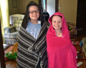Big Kid Hooded Towel-- Large Hooded Towel