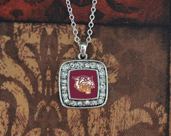 Bethune-Cookman Wildcats Square Necklace