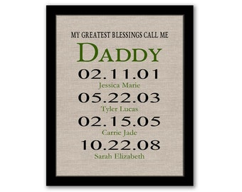 YOU PRINT, My Greatest Blessings Call Me Daddy, Gift For Dad, Dad Christmas Gift, Dates To Remember, Gift From Kids, Last Minute Gift